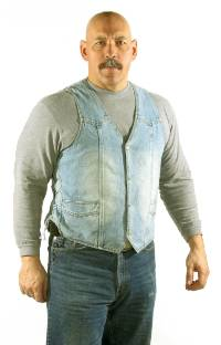 MV303-Denim<br>Plain Denim Vest w/ Side Laces