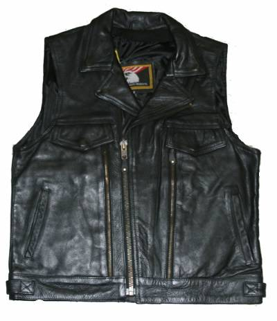 MV308<br>Mens leather vest