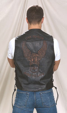 MV3090<br>Live To Ride Leather Vest