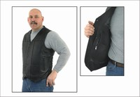 MV310-01<br>Plain Leather Vest (Naked Leather)