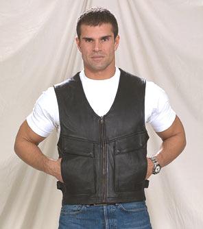MV313<br>Zippered Leather Vest