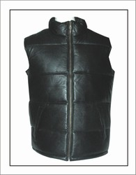 MV323<br>Leather Bubble vest