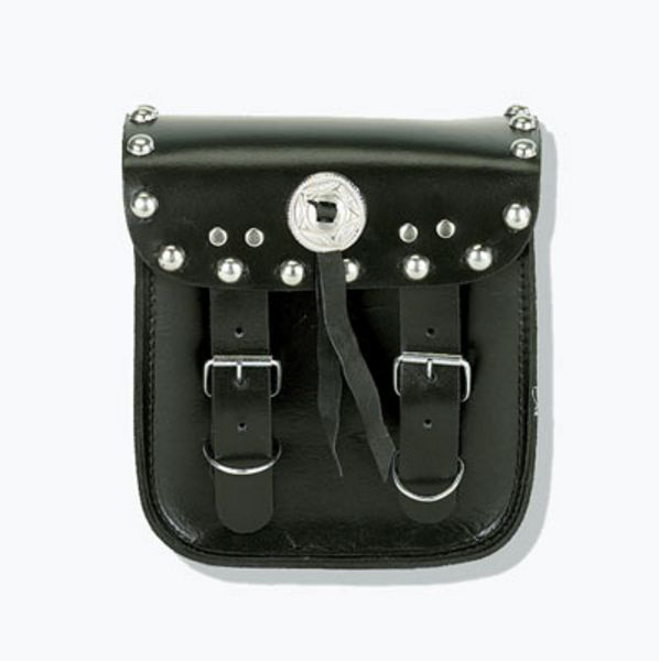 Sissy bar bag with studs and concho