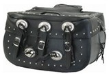 DSD4000-PV<br>PVC SADDLEBAG WITH STUDS