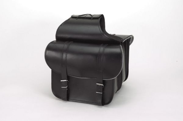 PVC-Throwover saddle bag with light reflector