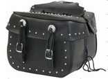 DSD4031-PV<br>PVC SADDLEBAG WITH STUDS