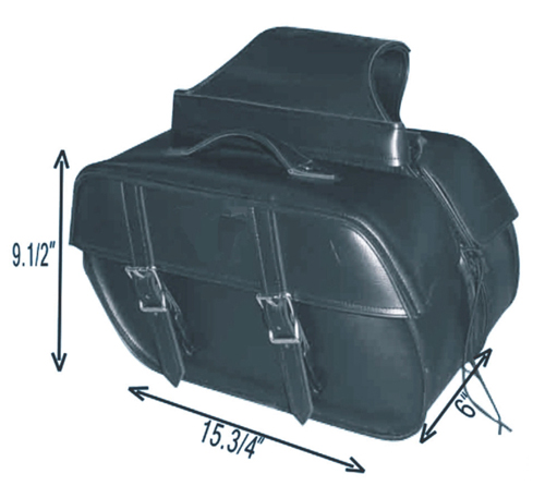 SD4057-PV<br>PVC SADDLEBAG WITH