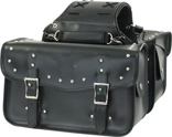 SD4066-PV<br>PVC SADDLEBAG WITH STUDS