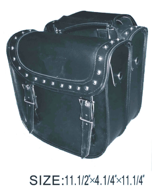SD4069-PV<br>PVC SADDLEBAG W/ Q-RELEASE, STUDS & EAGLE-LIFE TIME WARRANTY