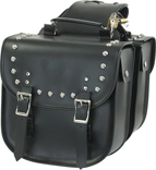 SD4070-PV<br>PVC SADDLEBAG WITH STUDS & EAGLE