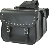 SD4075-PV<br>PVC SADDLEBAG WITH STUDS