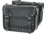 SD4076-PV<br>PVC SADDLEBAG WITH STUDS