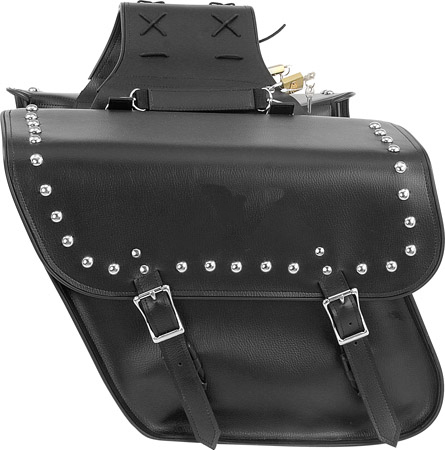 SD4077-PV<br>PVC SADDLEBAG WITH STUDS