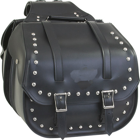 SD4080-PV<br>PVC SADDLEBAG WITH STUDS