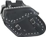 SD4081-PV<br>Slanted PVC Saddlebag w/ Studs