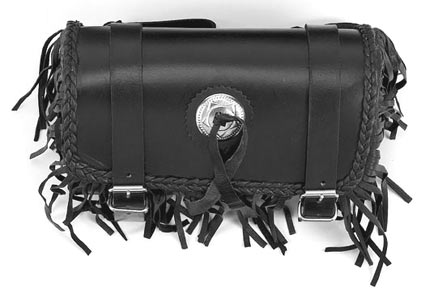 TB3001<br>PVC-Tool bag with braid & fringes with concho