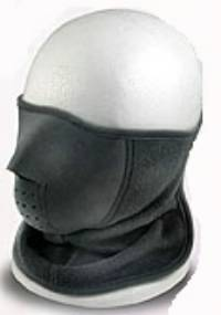 Face mask with velcro strap on back