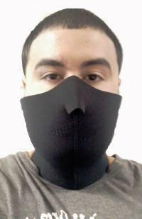 Neoprene Face mask with velcro strap on back