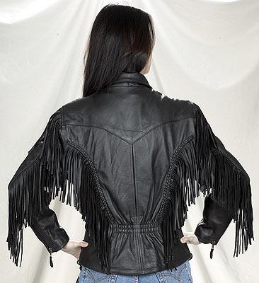 DLJ246-01<br>Ladies Naked Cowhide Motorcycle jacket