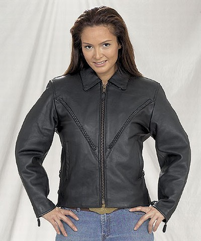 DLJ249-01<br>Ladies Naked Cowhide MC Jacket