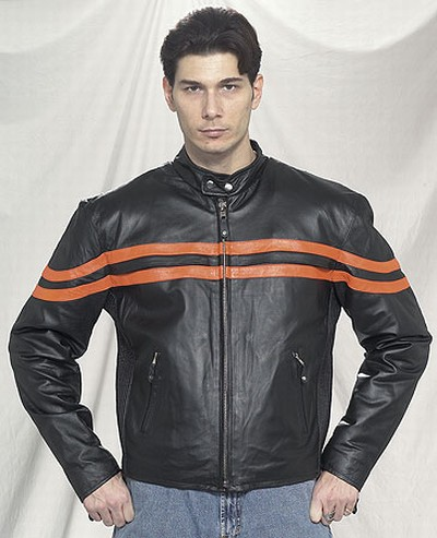 DMJ779-Orange<br>Mens racer jacket