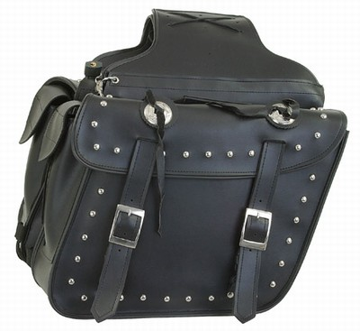 PVC SADDLEBAG WITH STUDS-LIFE TIME WARRANTY