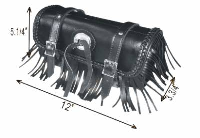 TB3000-12<br>Toolbag with braid and fringes,concho 12&#34;